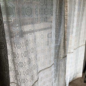Lace Curtain Sheers  - set of 2